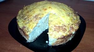 Пирог с капустой,мясом и сыр…