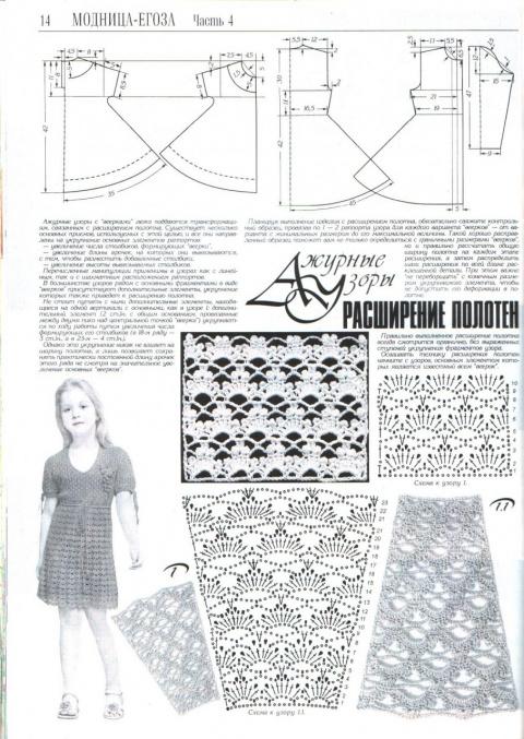 Расширение вязанных полотен...