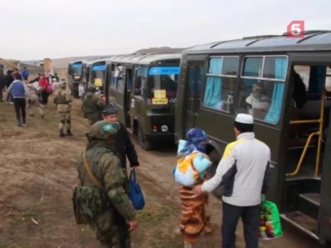 Российские миротворцы эвакуировали беженцев иззоны вооруженного конфликта вКазахстане