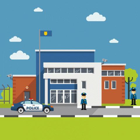 Полицейский участок. Вдвери врывается испуганный мужчина ипросит арестовать его…