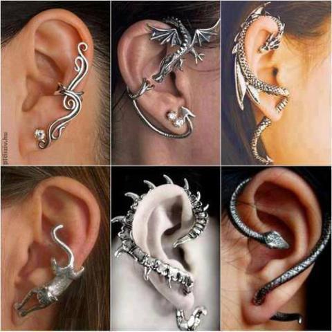 Креативные украшения для ушей