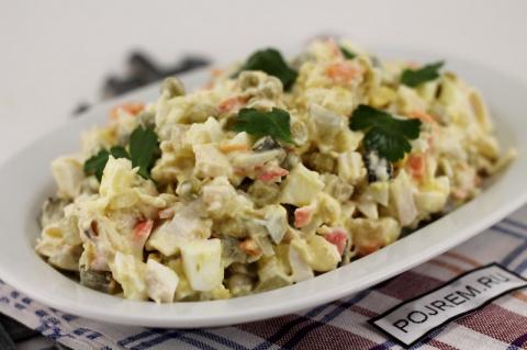 Рецепт: салат «столичный» с курицей