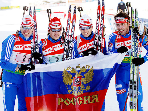 Российские биатлонисты хором…