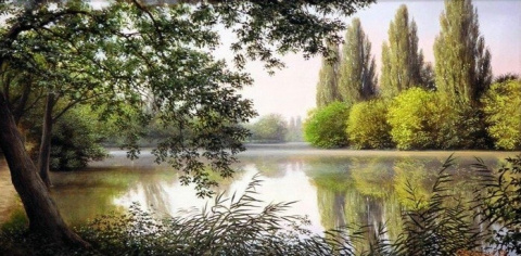Русские пейзажи Олега Булгакова