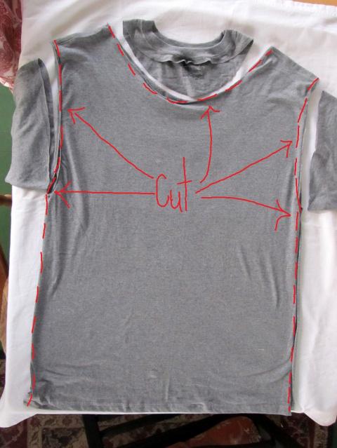 Переделка: жилет из футболки за 5 минут