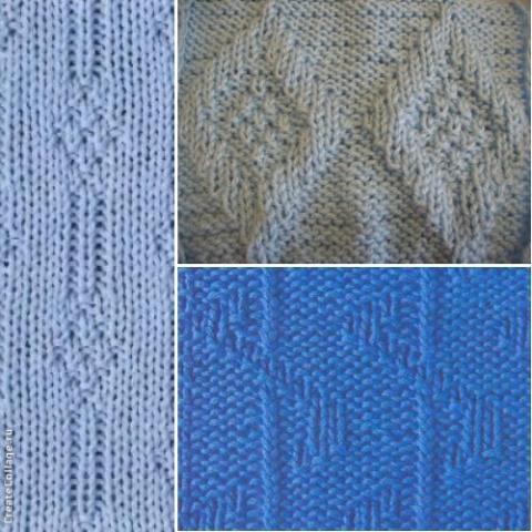 Простые узоры для вязания спицами (подборка из интернета)