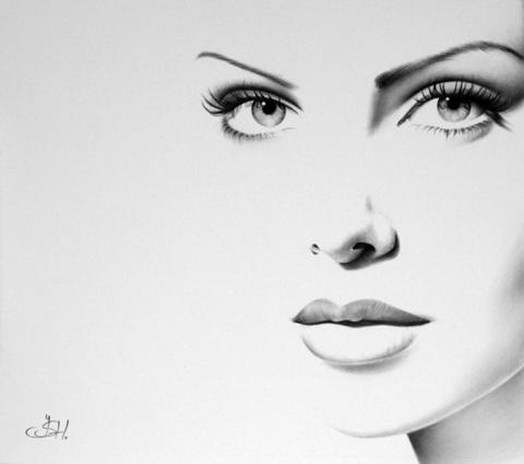 Портреты знаменитостей, нарисованные простым карандашом