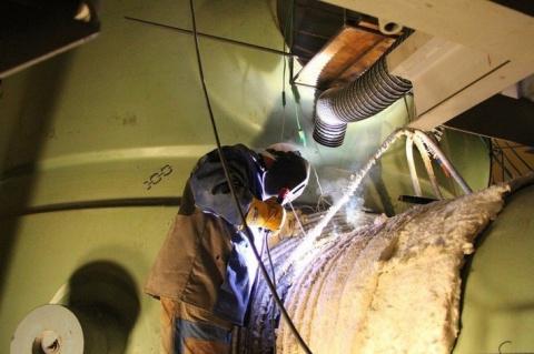 На энергоблоке № 1 Белорусской АЭС завершилась сварка главного циркуляционного трубопровода