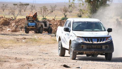 Сирия: в районе Пальмиры правительственные войска начали разминирование нефтенасосной станции