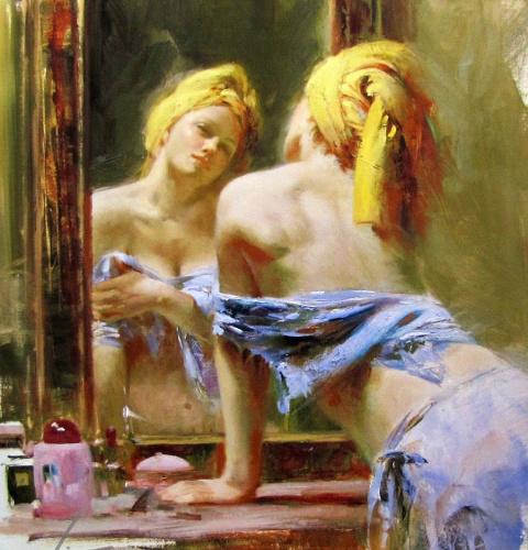 Запах женщины. Чувственные картины итальянского художника Pino Daeni