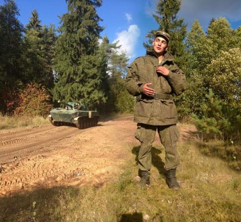 мой внук-командир БМД..Воздушно-десантные войска..