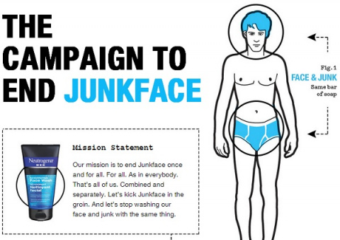Neutrogena научит мужчин мыть лицо и гениталии разными средствами
