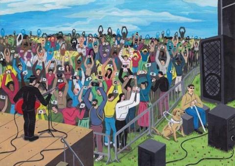 Остроумные сатирические иллюстрации на тему жизни современного человека