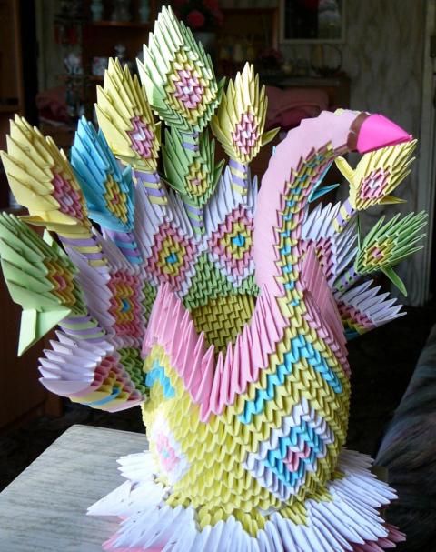 Царевна-лебедь - оригами