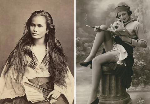 Женская красота на открытках…