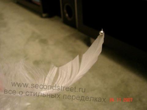 Елочка из перьев