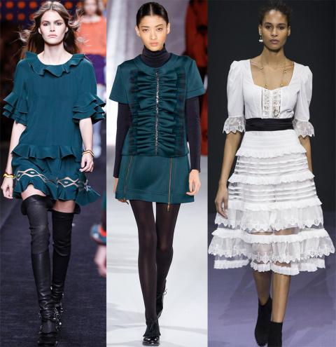 Модные вещи с рюшами и воланами в коллекциях 2016-2017 года