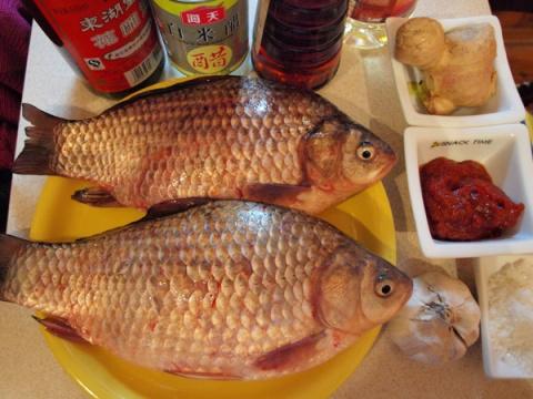 Рыба с перцем чили