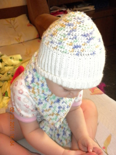 Шапочка и шарфик для дочки))))(крючек)