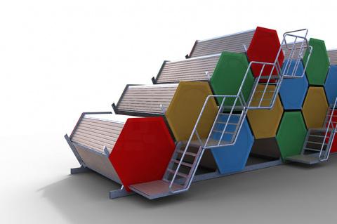 Проект сотового жилья  для музыкальных и театральных фестивалей