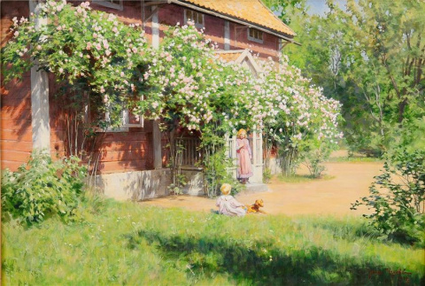 Шведский художник Johan Krouthen (1858–1932)