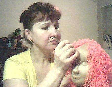 Кукла из капрона на
