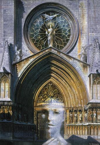 Идеалистическое восприятие входа в храм