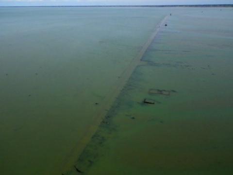 Passage du Gois - автомобильная дорога под водой