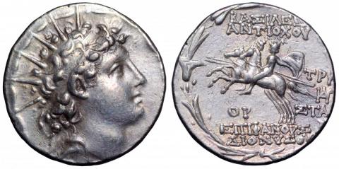 Олимпийские боги на античных монетах