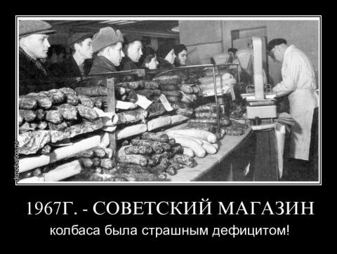 СССР, Россия, деньги и колбаса...