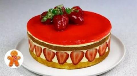 Клубничный торт «Фрезье»