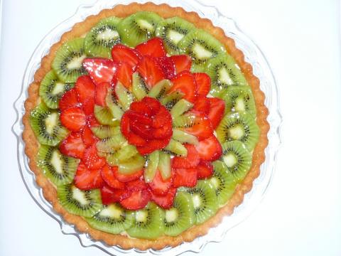 тортик фруктовый с заварным кремом