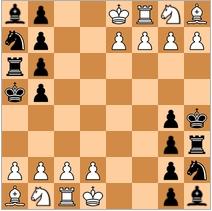 Чатуранга - предок современной игры шахматы. На диаграмме начальная расстановка фигур древних шахмат Чатуранга