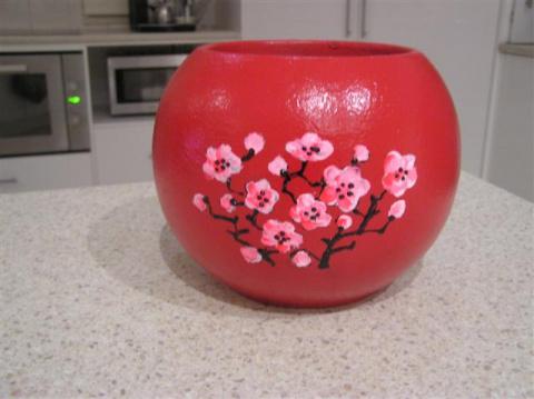 ваза после декора