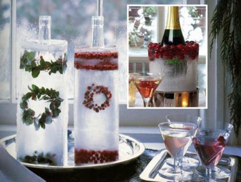 Новогодний декор: ледяные украшения