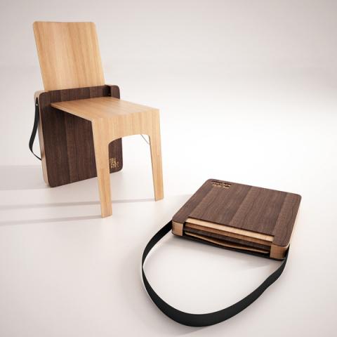 Заплечный стул