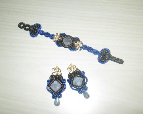 Сутажный комплект украшений: браслет и серьги