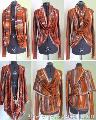 Оригинальная блуза-трансформер