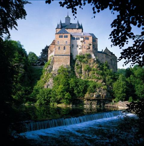 Замок Крибштайн, Германия (Burg Kriebstein)