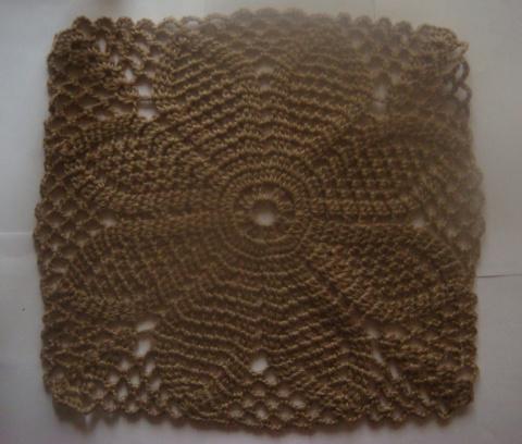 Большой квадратный мотив для скатерти или пледа