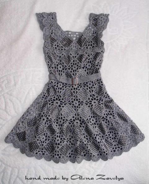 Шикарная идея для умопомрачительного платья! Ткань + вязание