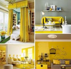 Свежесть интерьера лимонного цвета