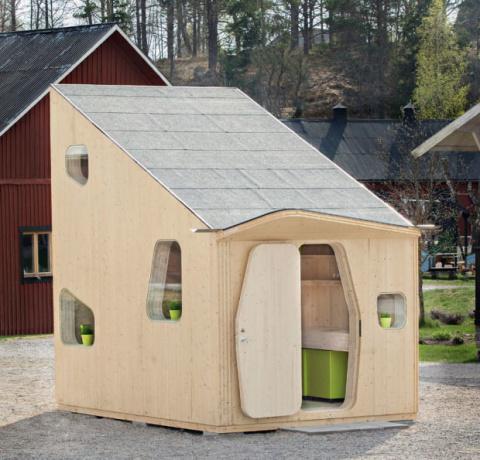 Миниатюрный, мобильный дом ручной сборки для студентов