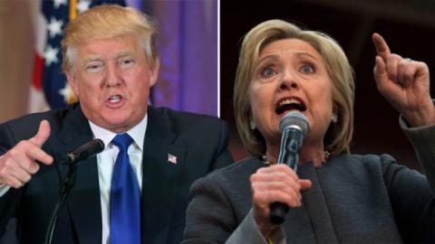 Разрыв между Клинтон и Трамп…