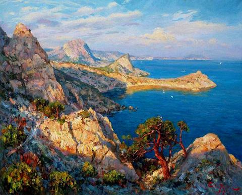 Крымский художник Сергей Свиридов