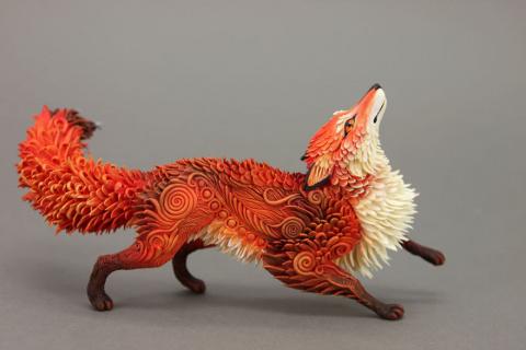 Фантастические скульптуры животных
