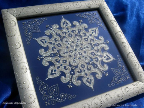 Проще простого: создаем оригинальное панно из бумажной снежинки
