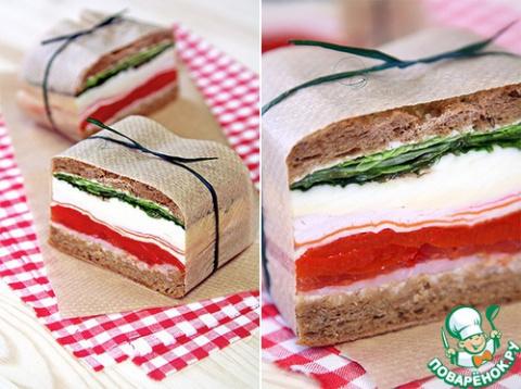 ЛЮБИМЫЙ ЗАВТРАК. Прессованные сэндвичи в итальянском стиле