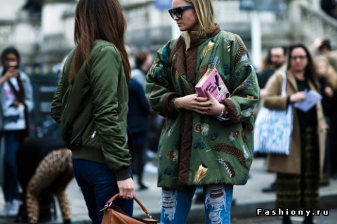 London Fashion Week осень-зима 2016-2017 - street style