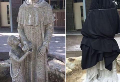 Австралийская школа извинилась за неоднозначную статую с мальчиком и священником